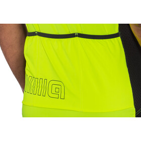 Alé Cycling Solid Color Block Maillot Manga Corta Hombre, flou yellow